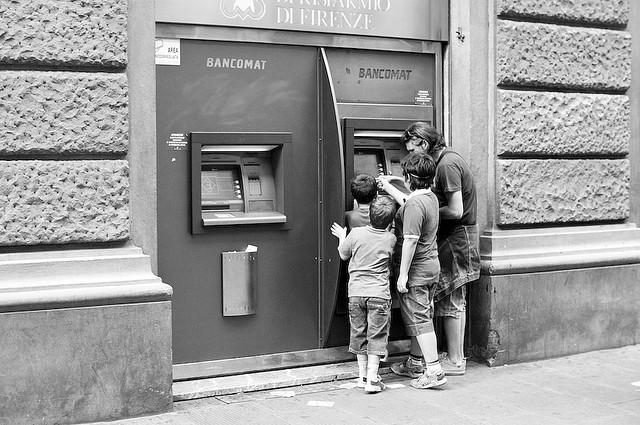 scontrino bancomat