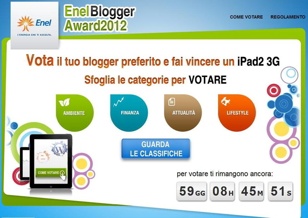 enel blogger award