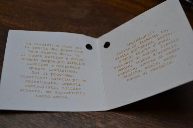 Ingredienti Panettone classico
