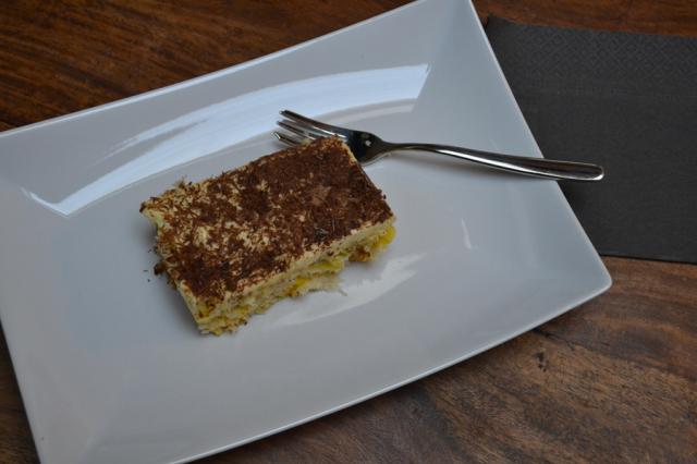 Panettone classico con Bavarese alla vaniglia